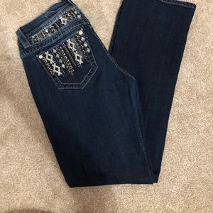 Miss Me Jeans Mid Rise Easy Boot Cut Size 29